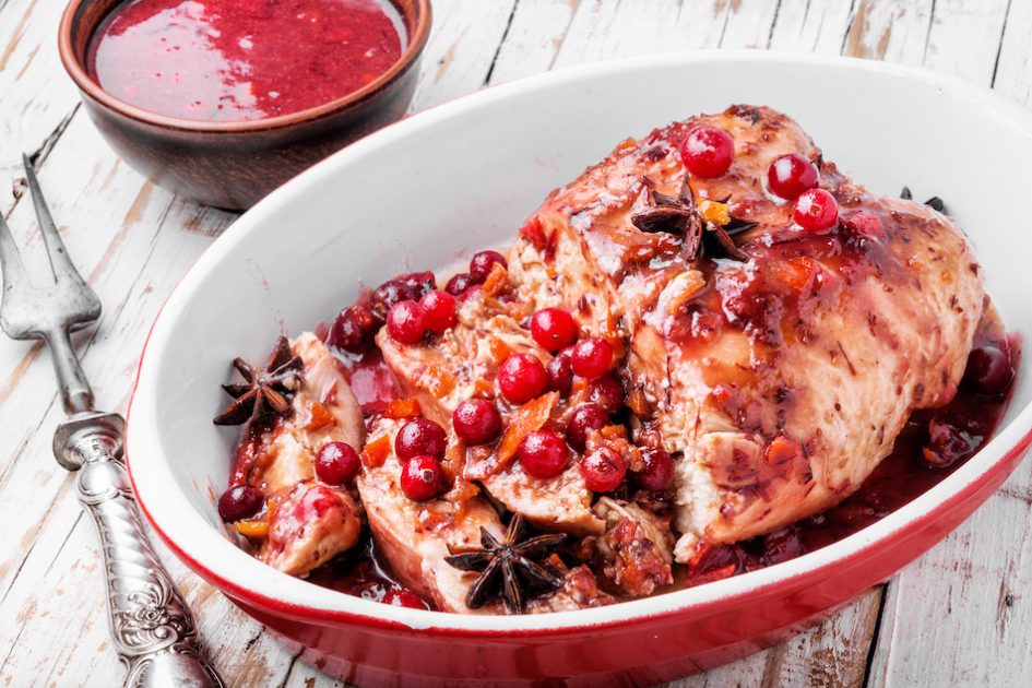 Grilled Chicken Breasts with Apple-Cranberry Glaze Recipe