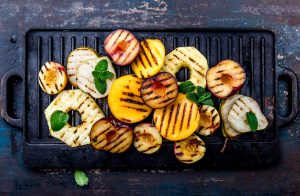 Grilled Fruit with Balsamic Vinegar Syrup Recipe
