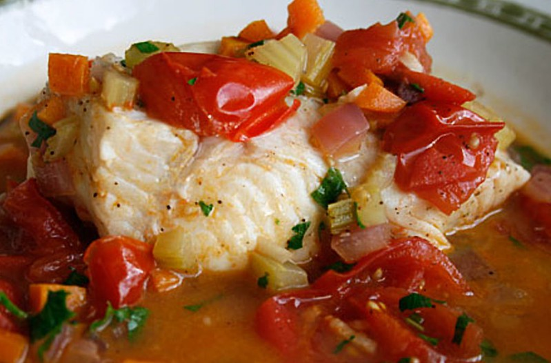 Grilled Halibut with Tomato-Herb Sauce Recipe