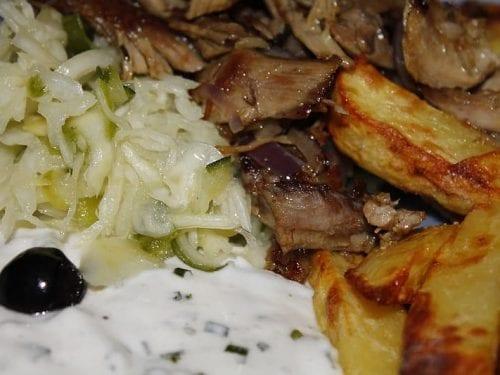 gyro meat platter