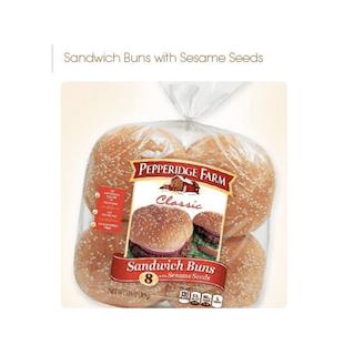 Pepperidge Farm Hamburger Sandwich Buns with Sesame Seeds