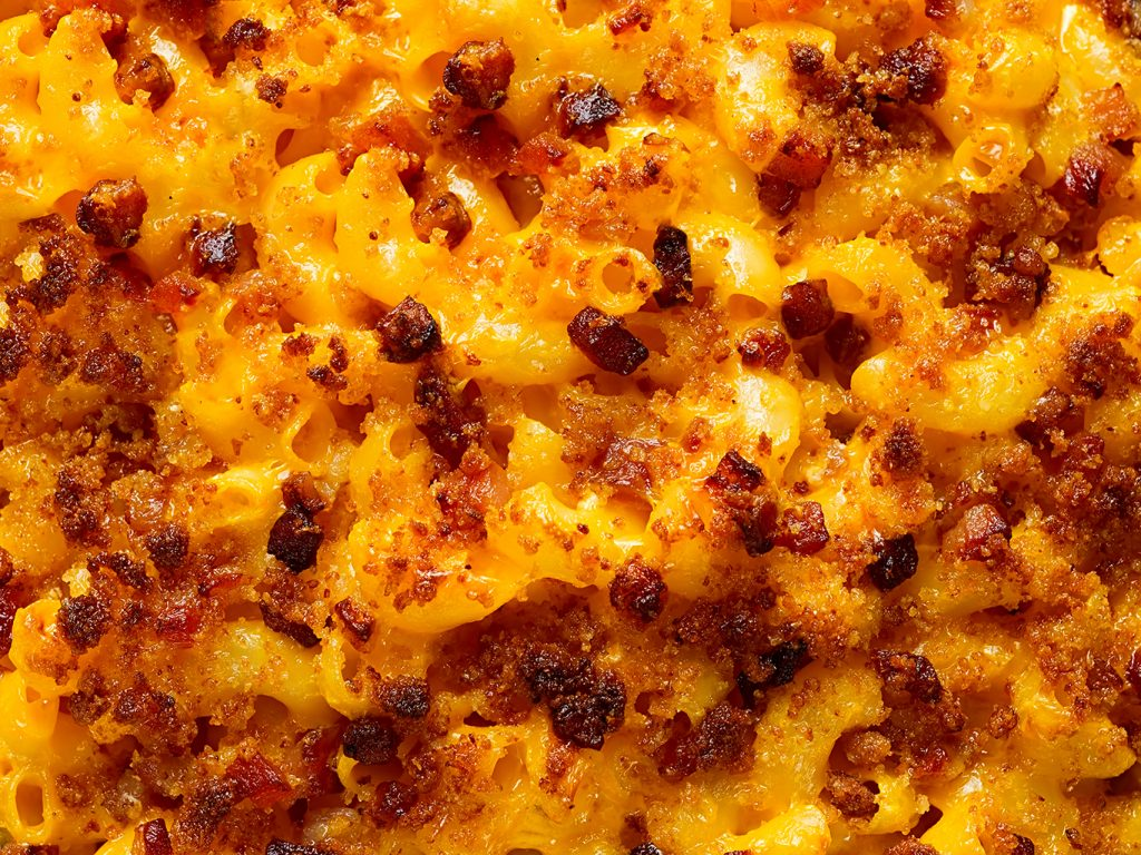 Hearty Mac and Cheese Strata with Bacon Recipe