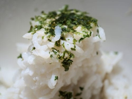 delicious rice with fresh herbs
