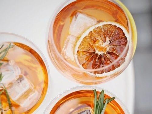 iced citrus sun tea