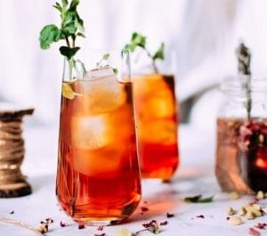 Iced Rhubarb Tea Recipe