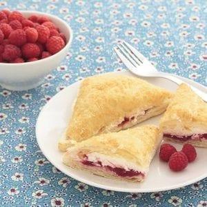 Indulgent Sweet Cream Cheese Raspberry Turnovers Recipe