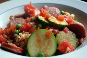 Jambalaya Salad with Greens Recipe