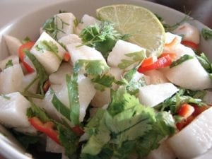 Jicama Salad with Jalapeno Dressing Recipe