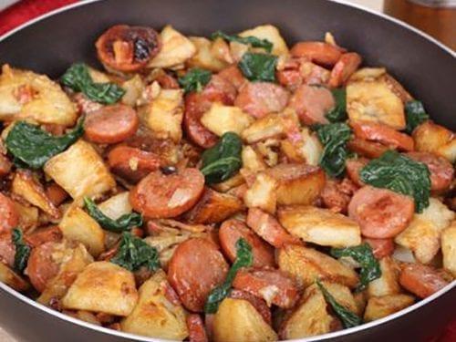 kielbasa and potato skillet