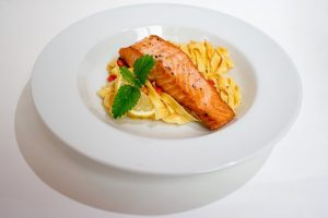 Lemon Basil Salmon with Spaghetti Recipe