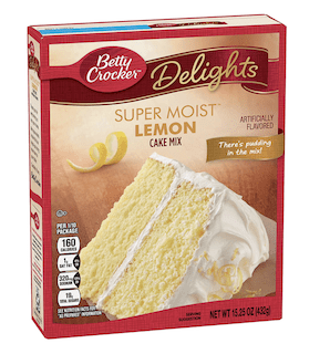 General Mills Betty Crocker Cake Mix, Lemon