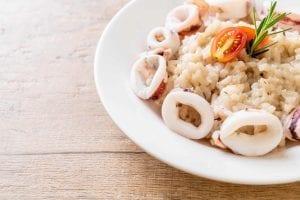 Calamari Garlic Lemon Risotto Recipe