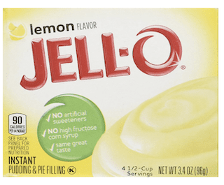 Jell-O Lemon Flavor Instant Pudding & Pie Filling