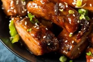 Green Onion Light BBQ Spare Ribs Recipe