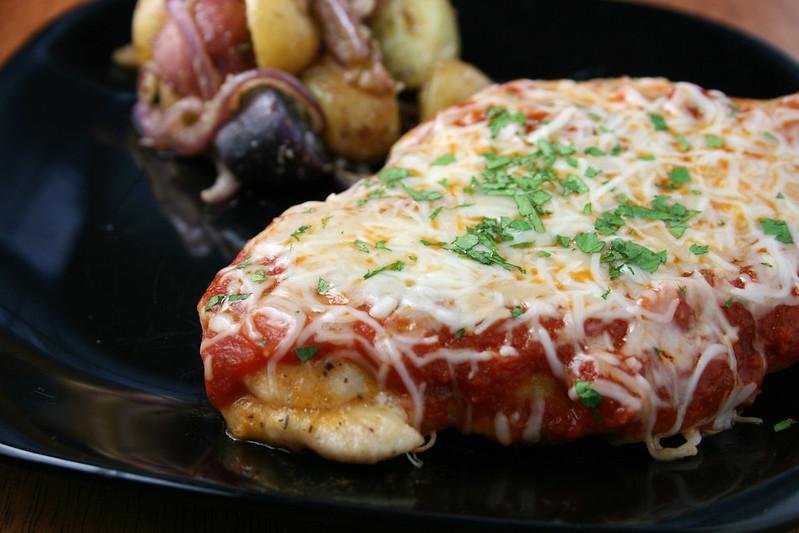 low carb parmesan garlic chicken