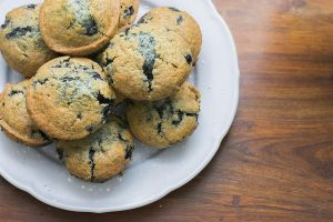 Low-Fat Blueberry Bran Muffins Recipe