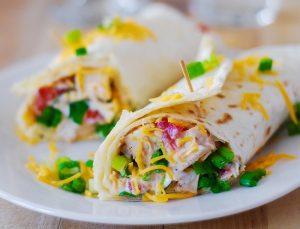 Mango Chutney Chicken Salad Wrap Recipe