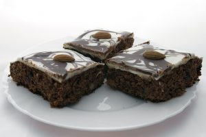 Marble-Frosted Macadamia Brownies Recipe