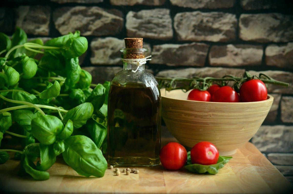 marinated fresh mozzarella tomato and basil salad