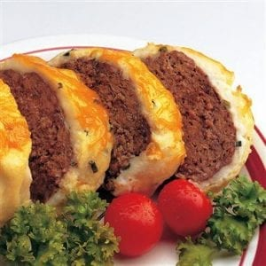 Meatloaf Casserole with Cheesy Mashed Potato Topping Recipe