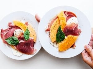Melon and Prosciutto with Balsamic Vinegar and Mint Recipe
