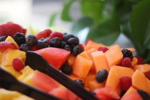 Melon Tray with Fruit Dressing Recipe