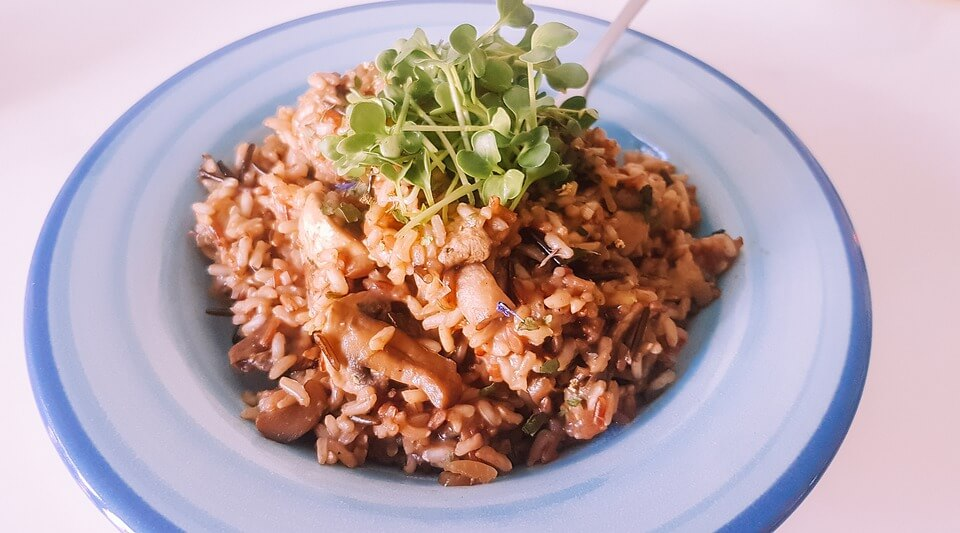minced chicken and vegetable risotto recipe