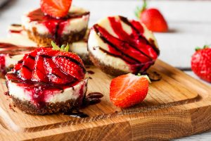 Mini Strawberry-Swirl Cheesecakes Recipe