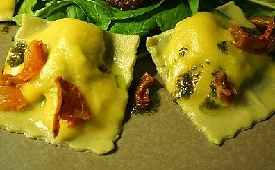 healthy nacho ravioli