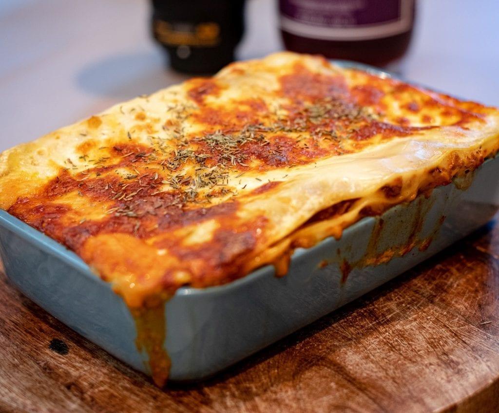 No-Cook Noodle Chicken Alfredo Lasagna Recipe