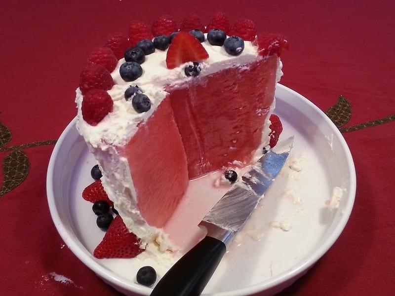 No-Guilt Watermelon Cake Recipe