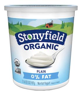 Stonyfield Organic Plain Nonfat Yogurt