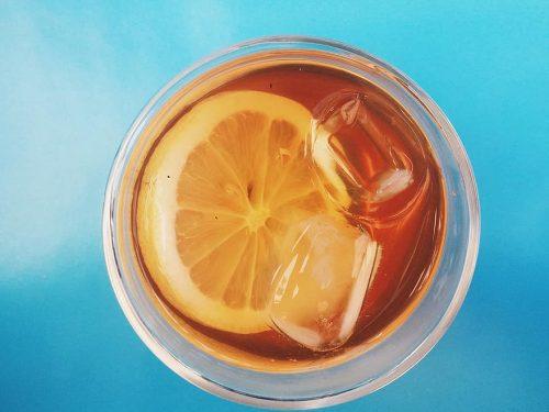cold orange iced tea