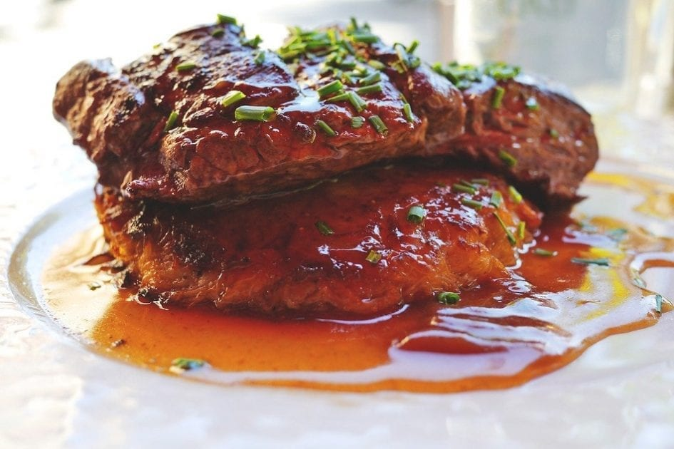 pan-seared steaks with shallot sauce