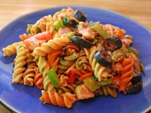 Pasta with Three Peppers and Chicken Recipe