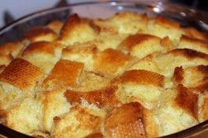 Peach Brioche Bread Pudding Recipe