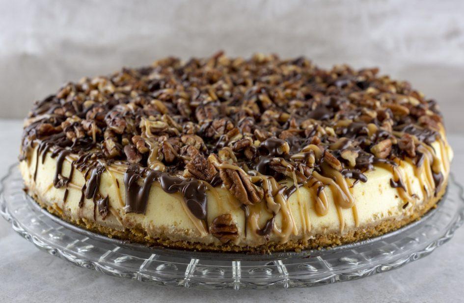 Peanut Butter Pecan Turtle Cheesecake Recipe