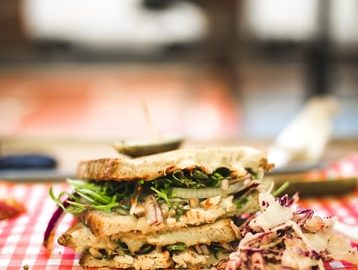 persian inspired chicken salad sandwich