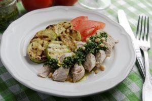 Pesto Chicken with Summer Squash Recipe
