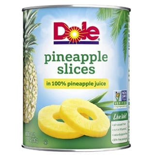 Dole, Pineapple Slices in Juice