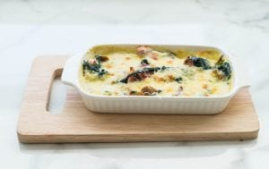 Potato And Spinach Tuna Bake Recipe