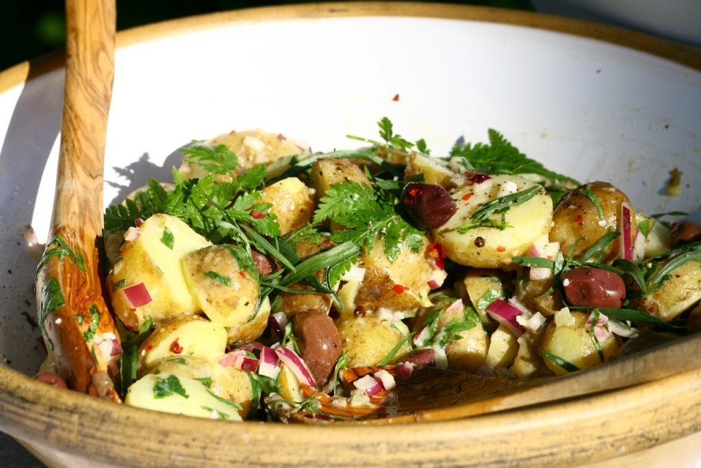 Potato Salad with Olives, Capers and Caraway Recipe