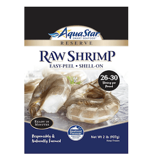 Aqua Star, Raw, Easy-Peel, Shell-on Shrimp