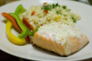 Rice Salmon Delmonico Recipe