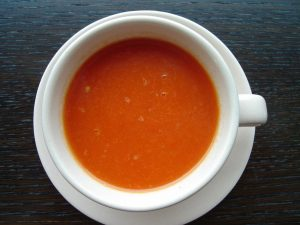 Roasted Red Bell Pepper Soup With Lemon Vinaigrette Recipe