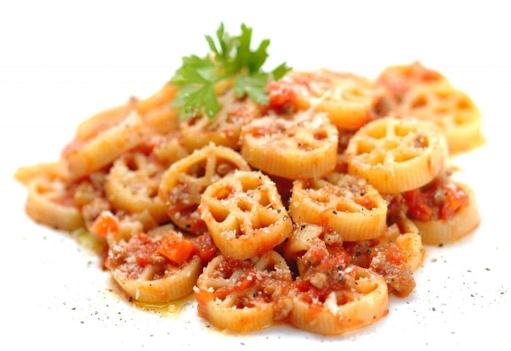 Rotelle Pizza Pasta With Mozzarella Recipe