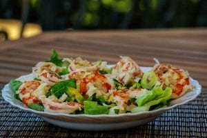 Padre Prawns with Strawberry-Jalapeno Dressing Recipe