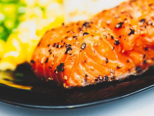 salmon with honey mustard