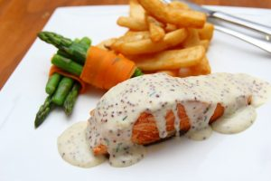 Salmon with Maple-thyme Glaze Recipe