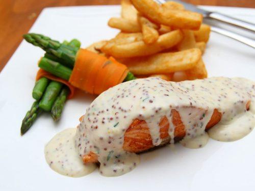 salmon with maple thyme glaze